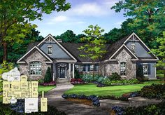 Now Available! The Mayfair - Plan 1317. This plan features a massive master suite, single dining space, and 2 additional bedrooms with their own walk-in closets! http://www.dongardner.com/plan_details.aspx?pid=4626. #New #Design #Craftsman