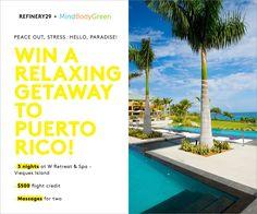 Win a 3-night getaway to Puerto Rico! Enter now: http://r29.co/1cqRtQS