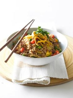 Fried Rice from Destitute Gourmet Fried Rice, Feel Good, Sophie Gray, Meal Planning, Main Dishes, Nom Nom, Favorite Recipes, Beef, Meals