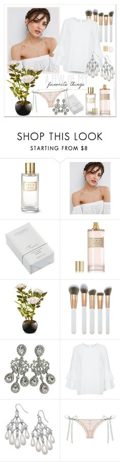 """~ A Few Of My Favorite Things ~"" by romantiquechic ❤ liked on Polyvore featuring beauty, Estée Lauder, ASOS, The White Company, AERIN, National Tree Company, Spectrum, BillyTheTree and Christian Dior"