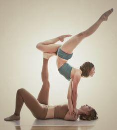 i love building trust through partner yoga... it also involves good communication!