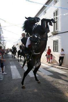 'Cavalls i Cavallers' in Ciutadella - Festes de Sant Joan on the Island of Menorca, Spain.