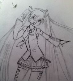 This is a picture of Hatsune Miku from Vocaloid.