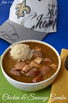 Chicken & Sausage Gumbo #gumbo #New Orleans #soup #chicken