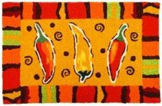 Amazing Chili Pepper Kitchen Rug