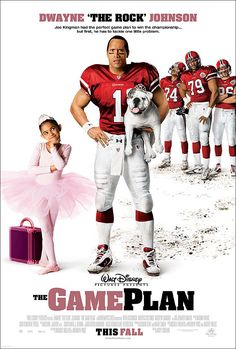 """The Game Plan is a 2007 family sports comedy film directed by Andy Fickman and starring Dwayne """"The Rock"""" Johnson. This movie was the last film in which Johnson uses his ring name """"The Rock"""". Christine Lakin, Love Movie, Movie Tv, Movies Showing, Movies And Tv Shows, Em Breve Nos Cinemas, Plan Movie, Football Movies, Image Internet"""