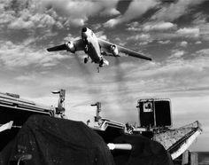 A-3 Skywarrior on aircraft carrier