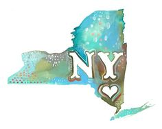 Just bought this print to make a great collage to have...I love NY, and Katie Daisy  did an incredible job painting this! So excited to recieve this and put the collage together!