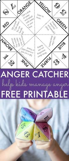 Help Kids Manage Anger: Free Printable Game Who can resist a cootie catcher? My middle schools love 'em! The post Help Kids Manage Anger: Free Printable Game appeared first on Best Of Daily Sharing. Elementary School Counselor, School Counseling, Elementary Schools, Group Counseling, Counseling Activities, Art Therapy Activities, Kids Therapy, Group Activities, Therapy Ideas For Kids