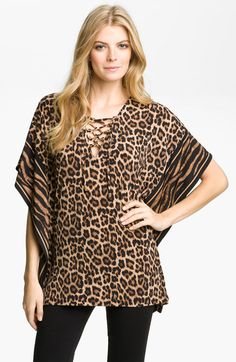 Lace Up Animal Print Tunic...is this Michael Kors?  Where can I find it?