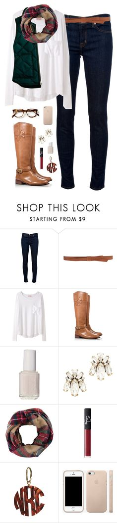 """""""coldddd days"""" by classically-preppy ❤ liked on Polyvore featuring J Brand, Ganni, Organic by John Patrick, J.Crew, Tory Burch, Essie, Look by M and NARS Cosmetics"""