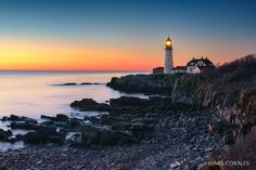 """Dayspring at Portland Head Light"" by Junel Corales, via 500px"