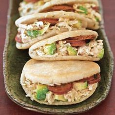 Chicken and Chorizo Arepas with Chimichurri - made them over the weekend with small pitas in place of arepas.  Delicious!