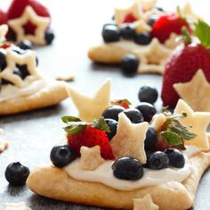 Starstruck Berry Marshmallow Pies