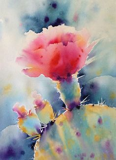 Lightstruck2 by Yvonne Joyner Watercolor ~ 20 in. including mat x 16 in including mat