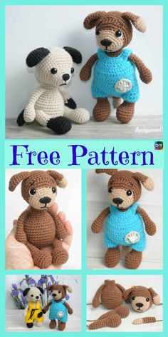 diy4ever Adorable Crochet Amigurumi Dog Free Pattern P - Adorable Crochet Amigurumi Dog - Free Pattern