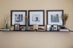 Guest bedroom/ Office. Styling a shelf.