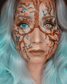 Face Paint Makeup, Body Makeup, Makeup Art, Makeup Ideas, Creepy Halloween Makeup, Scary Makeup, Cool Makeup Looks, Creative Makeup Looks, Disney Eye Makeup