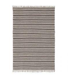 Comprar alfombra flecos gris 100% algodón 240 x 170 cm de color gris de estilo…
