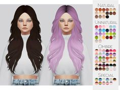 Beautiful wavy hairstyle for the sims 4❤️