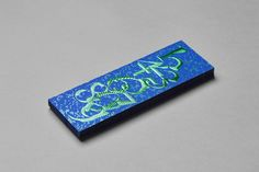 FIAC bookmark 2015 designed by the Paris-based studio Akatre on Curious Matter Adiron Blue paper by Arjowiggins Creative Papers.