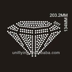 Diamond shape custom rhinestone transfers
