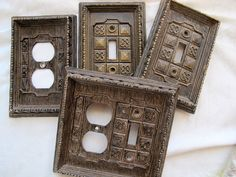 Gothic faux wood coverplates choice / by SandrasCornerStore