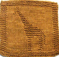 Knitting Cloth Pattern - GIRAFFE - PDF. $2.75, via Etsy. --- Want to make for my sister!
