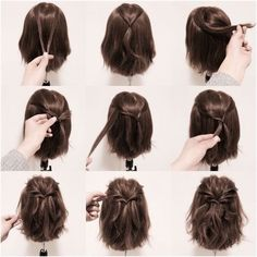 20 Coiffures Pratiques et Rapides Pour Cheveux courts et Mi-longs à L'occasion du Nouvel An | Coiffure simple et facile