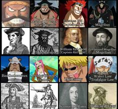 Historical Influences #ONEPIECE