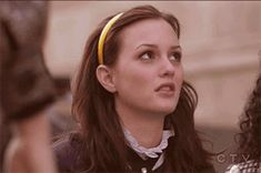 Pin for Later: You Guys, Blair Waldorf and Seth Cohen Are Parents! Just look at her epic eye roll. Leighton Meester Hair, Leighton Marissa Meester, Gossip Girls, High School Stereotypes, Blair Woldorf, Eye Roll, Tumblr, Queen B, The Cw