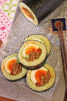 恵方巻・ごろっと卵のカレーロール寿司