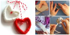Сердечки из цветных нитей Crochet Necklace, Jewelry, Jewlery, Jewerly, Schmuck, Jewels, Jewelery, Fine Jewelry, Jewel