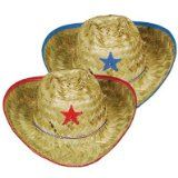 *#* New Halloween costume  sales: Child Cowboy Hats w/Plastic Star & Chin Strap (asstd blue & red trim) Party Accessory  (1 count) - http://halloweencostumeideashere.com/new-halloween-costume-sales-child-cowboy-hats-wplastic-star-chin-strap-asstd-blue-red-trim-party-accessory-1-count/