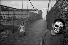 TAIWAN. Wuri. 2003. My niece (left), on a new suspension bridge