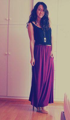 Purple Maxi Skirt.