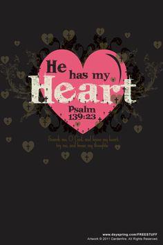Salmo 139:23 Examíname, oh Dios, y conoce mi corazón; Pruébame y conoce mis pensamientos;