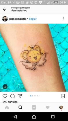 Anime Tattoos, Girly Tattoos, Mini Tattoos, Love Tattoos, Beautiful Tattoos, Picture Tattoos, Body Art Tattoos, Anime Sakura, Kero Sakura