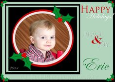 Printable Green and Black Christmas Holiday Card  by ThePhotoMommy, $10.00