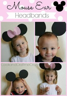 Mouse Ear Headbands- a quick 5 minute project for a Mouse Halloween costume! SOO CUTE!  http://cookandcraftmecrazy.blogspot.com/2013/10/mouse-ear-headbands.html