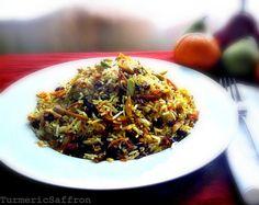 Turmeric and Saffron: Shirin Polow - Persian Sweet Rice