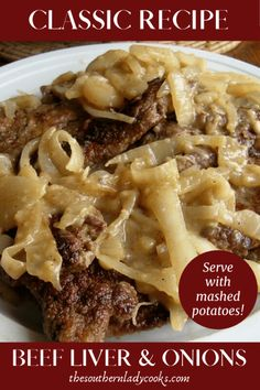 Baked Liver And Onions Recipe, Recipes With Beef Liver, Beef Steak Recipes, Onion Recipes, Baked Liver Recipes, Beef Tips, How To Cook Liver, How To Cook Beef, Cooking Recipes