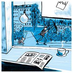 cafe II | Illustration Katja Rub | Espresso Zack Zack Leipzig