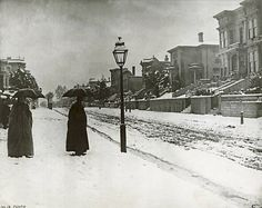 February 5, 1887 - Snow. Shotwell Street between 22nd & 24th Sts, San Francisco, the San Francisco Chronicle Archives Photo: John Carpenter (Collection Of)