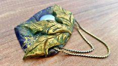 Vintage handmade brooch Leaf brooch romantic leaf brooch