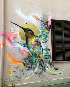 Fantstic street art piece by L7M (Brazil) in Rome.  #l7matrix #osgemeos #sandrachevrier #graffiti #streetart #brazil #rome #urbanart #urbanart24 #graffitiart #banksy #spaceinvader #uaa #nobanksyforum #bird #mural #contemporaryart #italiangraffiti by urbanart24