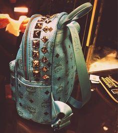 6722e293e4c MCM backpack Chanel Handbags, Mcm Handbags, Gucci Purses, Chanel Tote,  Studded Backpack