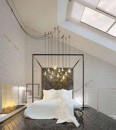 5x wegdromen in een simplistisch hemelbed Roomed | roomed.nl. Mooie vloer.