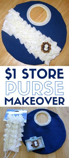 Dollar Store Crafts | DIY | Purse Makeover