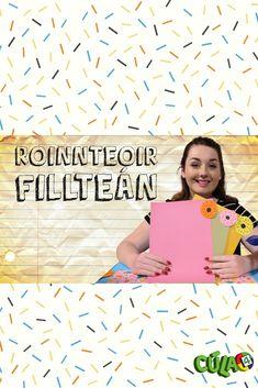 Taispeánann Caitríona dúinn conas Roinnteoir Fillteán a dhéanamh. Caitríona shows us how to make doughnut dividers! Dividers, Doughnut, How To Make, Diy, Bricolage, Do It Yourself, Homemade, Diys, Crafting